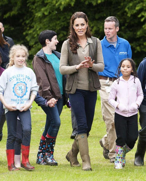 Kate Middleton camping