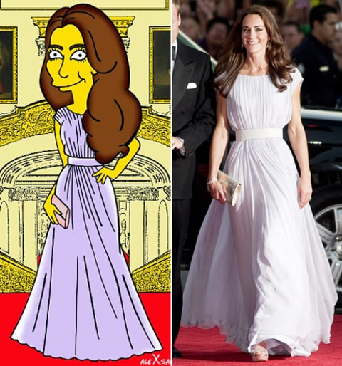 kate middleton BAFTA reception simpsonized