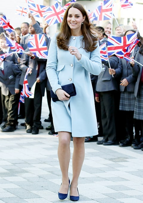kate blue coat full-length