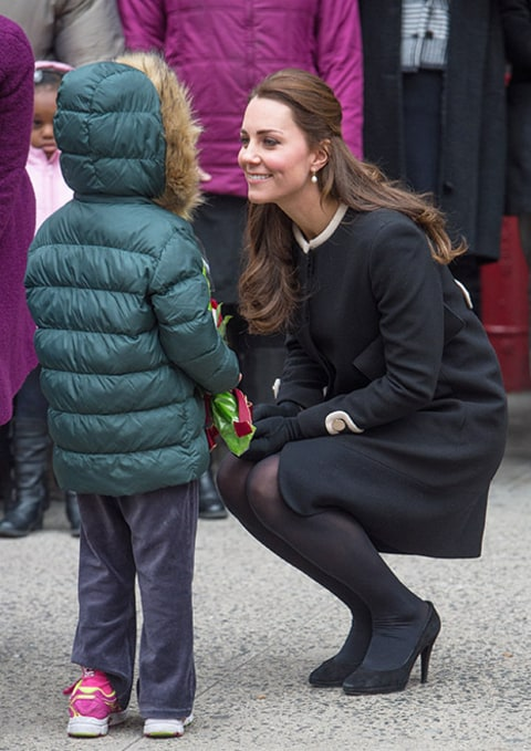 Kate Middleton and small child