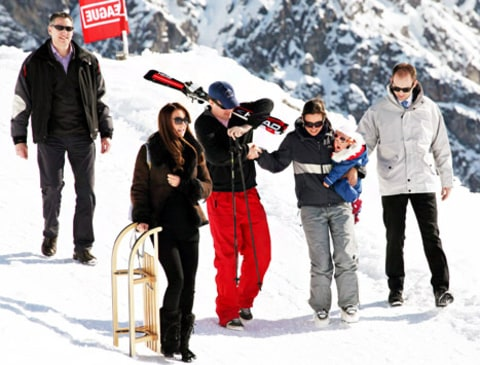 kate middleton with sled