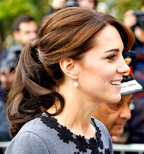 Wondrous Kate Middleton39S Ponytail Is Beyond Bouncy See It From Every Short Hairstyles For Black Women Fulllsitofus