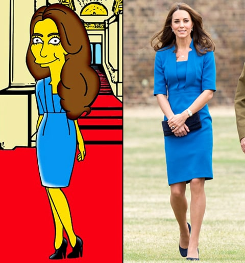 kate middleton poppy field simpsonized