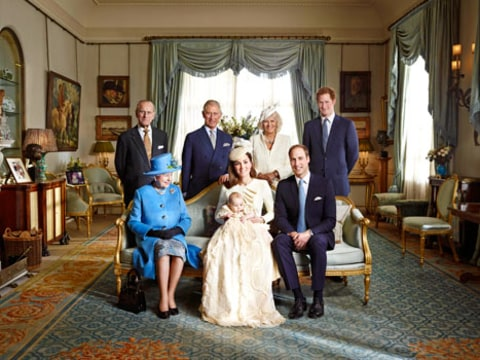 prince george extended royal family