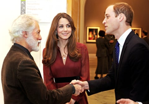 kate middleton, prince william meet Paul Emsley
