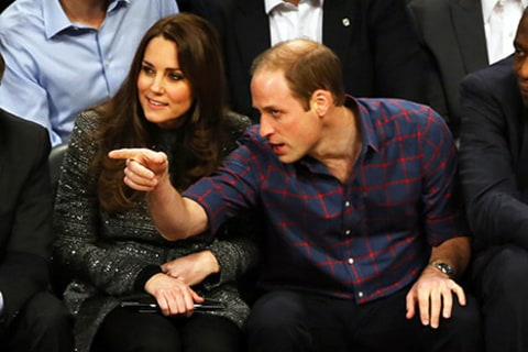 Kate Middleton and Prince William Courtside