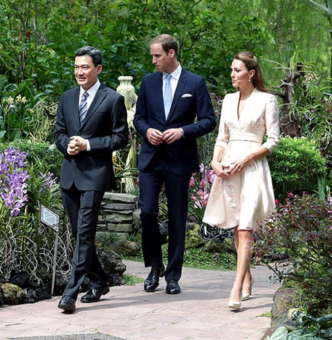 kate and will in singapore