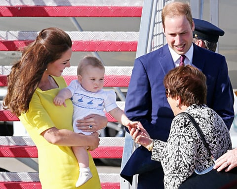 kate middleton prince william prince george sydney arrival