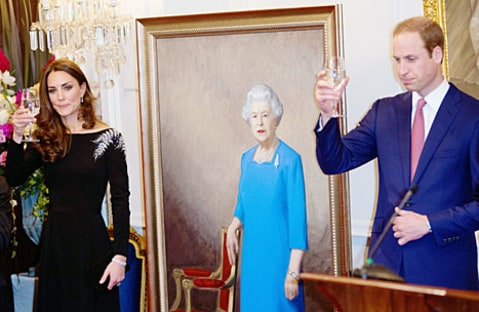kate and william toasting