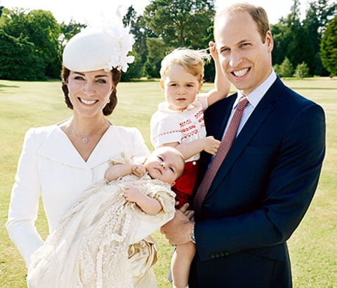 Kate Middleton, Princess Charlotte, Prince George and Prince William