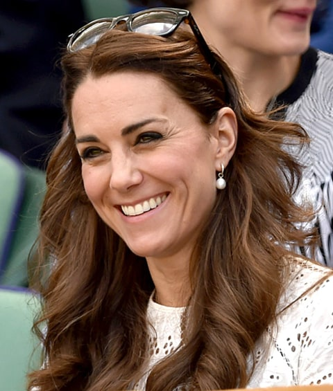 Kate Middleton Wimbledon smiling