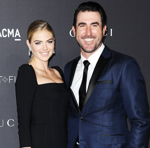 Kate Upton and Justin Verlander attend the 2016 LACMA Art + Film gala at LACMA on October 29, 2016 in Los Angeles, California.