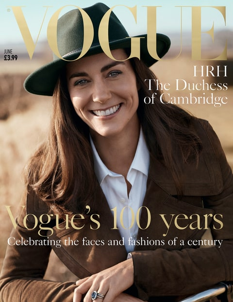 Kate Middleton on the cover of British Vogue