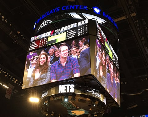 Kate Middleton and Prince William jumbotron