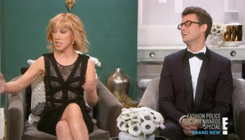 Brad Goreski and Kathy Griffin on Fashion Police