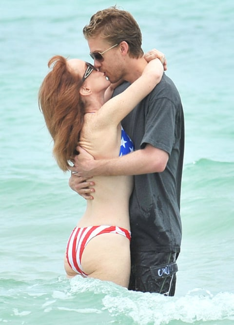 Kathy Griffin on the beach 1