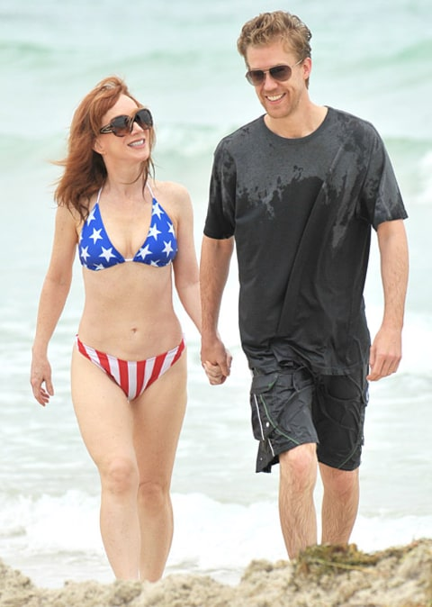 Kathy Griffin on the beach 2