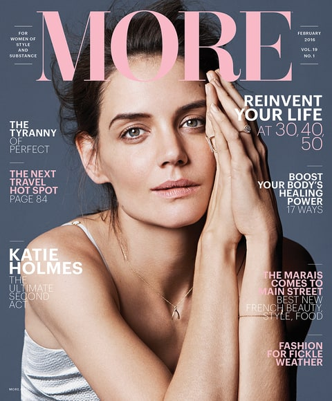 Katie Holmes in More Magazine