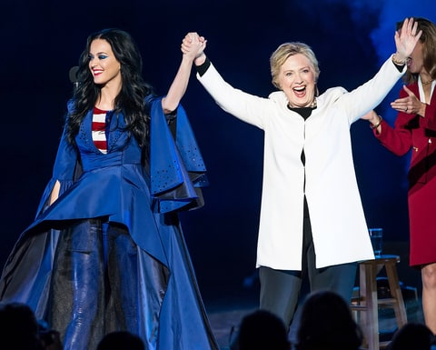 Katy Perry and Hillary linton
