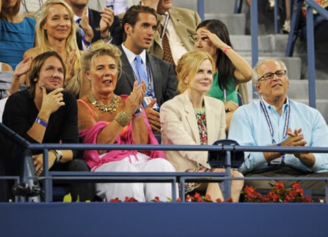 Nicole Kidman and Keith Urban Watch Tennis