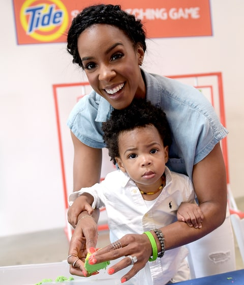 Kelly Rowland and Titan Jewell Witherspoon attend Safe Kids Day 2016 presented by Nationwide at Smashbox Studios on April 24, 2016 in Los Angeles, California.