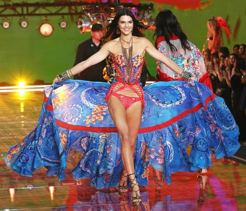 Kendall Jenner walked the runway at the 2015 Victoria's Secret Fashion Show
