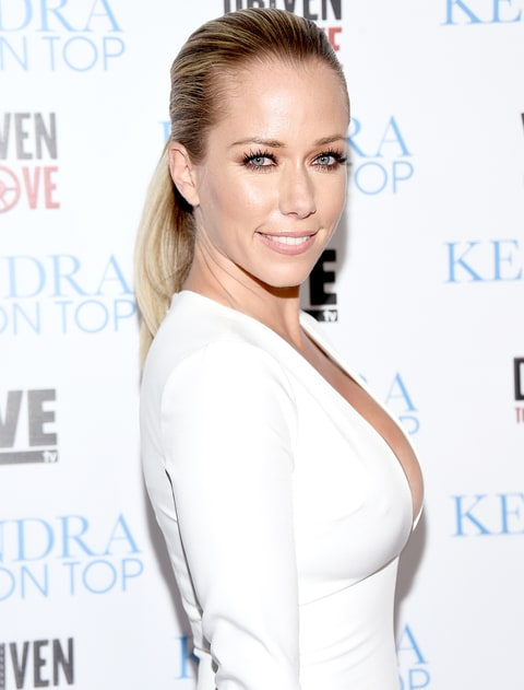 Kendra Wilkinson arrives at the WE tv celebration of the premiere of 'Kendra On Top' and 'Driven To Love'  at Estrella Sunset on March 31, 2016 in West Hollywood, California.