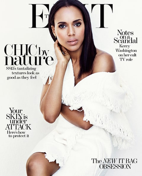 kerry washington white The EDIT cover