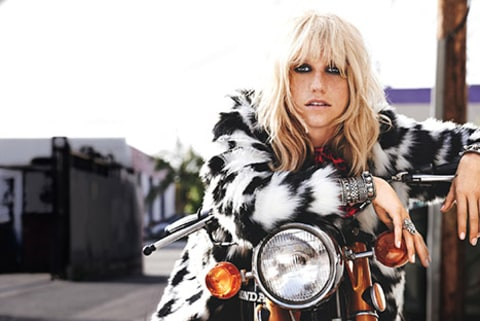 Kesha Teen Vogue on Bike