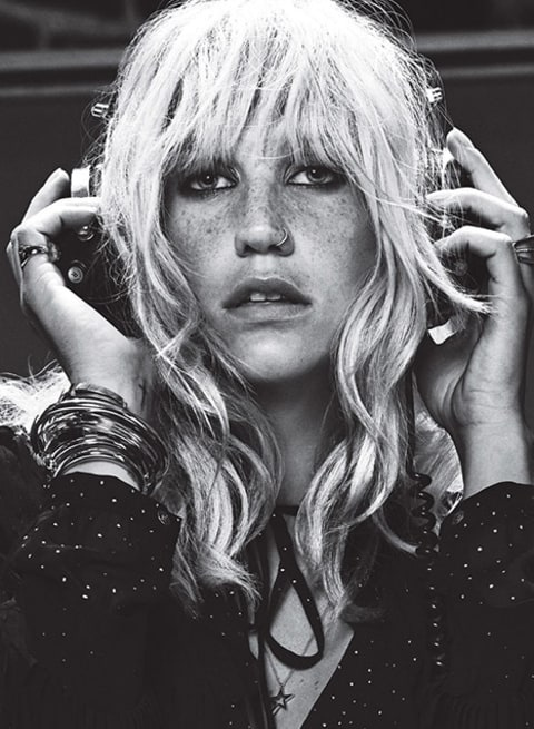 Kesha Teen Vogue with headphones