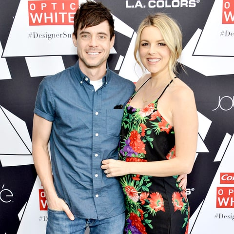 Kevin Manno and Ali Fedotowsky attend the Colgate Optic White Beauty Bar Ð Day 2 at Hudson Loft on February 14, 2016 in Los Angeles, California.