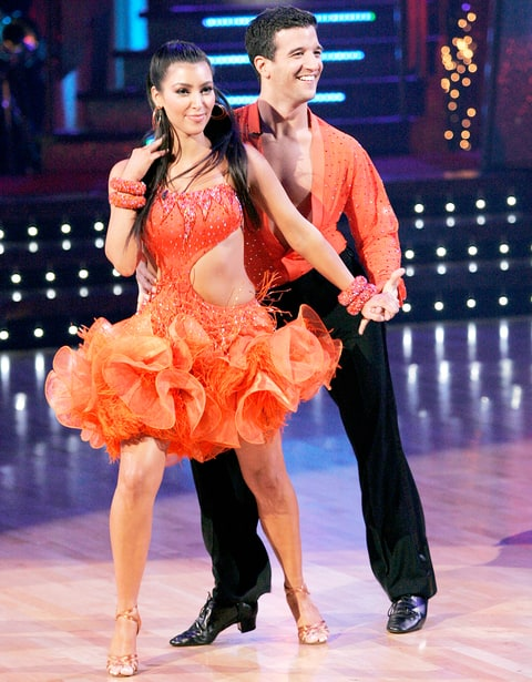 Mark Ballas and Kim Kardashian on Dancing with the Stars.