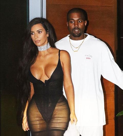 Kim Kanye West Kardashian Upstages In Sheer Dress At Miami