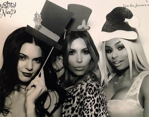 Kim Kardashian with girls