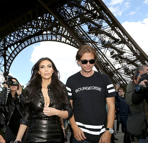 Jonathan Cheban and Kim Kardashian - Eiffel Tower