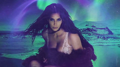 Kim Kardashian Makes Her Internet Return In Lingerie For LOVE Magazine