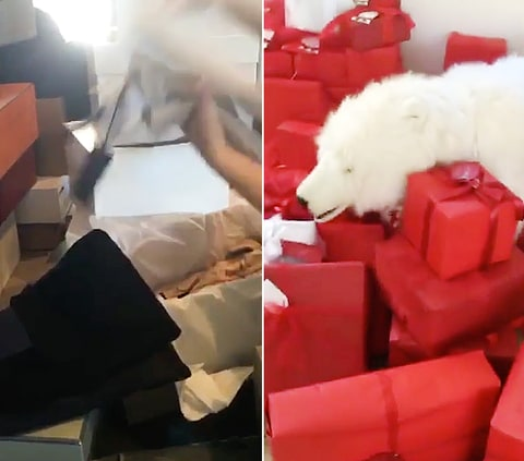 Kanye West bought 150 presents for Kim Kardashian