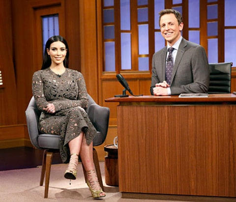 Kim Kardashian and Seth Meyers