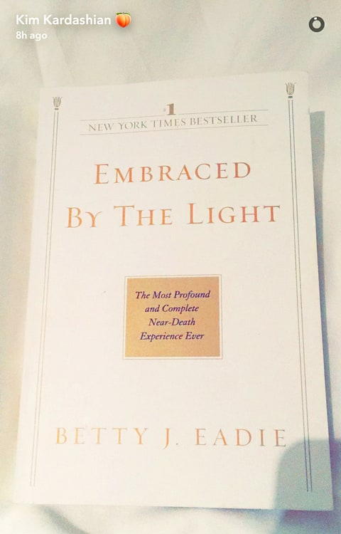 Embraced By The Light Book Unique Kim Kardashian Is Reading A Book About A NearDeath Experience After