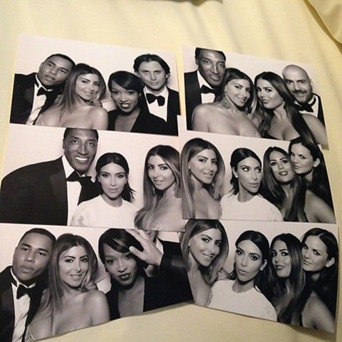Kim Kardashian Kanye Wedding Photo Booth