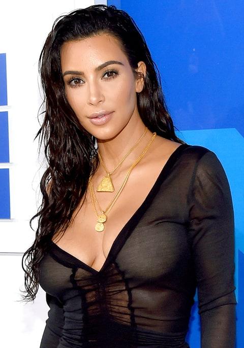 Kim Kardashian attends the 2016 MTV Video Music Awards.