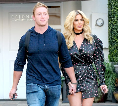 Kim Zolciak and Kroy Biermann are seen on October 13, 2016 in Los Angeles, California.