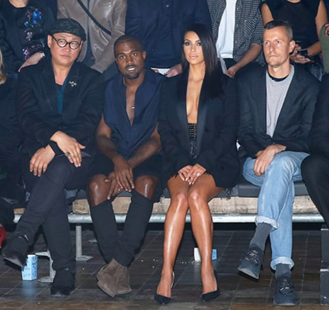 Kimye at the Lanvin show