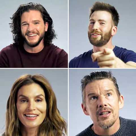 Kit Harrington, Chris Evans, Ethan Hawke and Cindy Crawford
