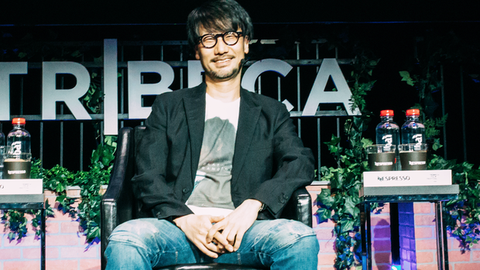 Game designer Hideo Kojima at the Tribeca Film Festival in New York, April 2017