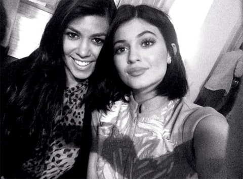 Kourtney and Kylie