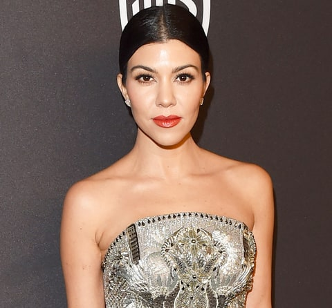 Kourtney Kardashian Shows Off Wild Looking Led Face Mask