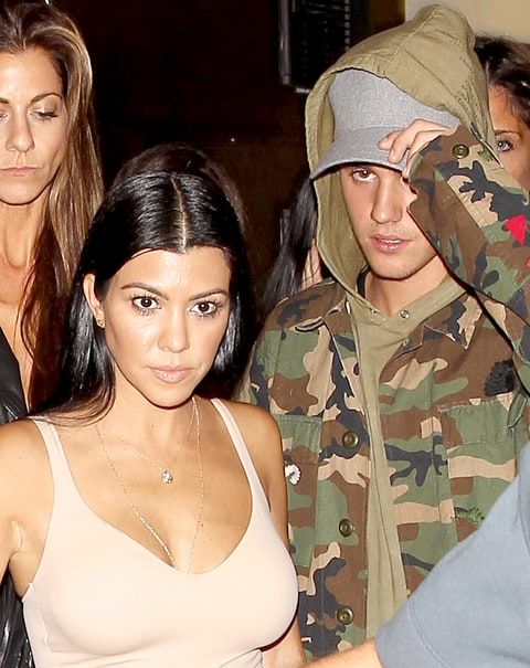 Kourtney Kardashian hangs out with Justin Bieber at The Nice Guy on October 9, 2015.