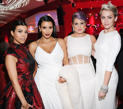 kourtney, kim, kelly, miley
