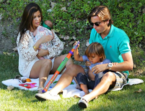 Kourtney and Scott with kids